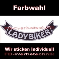 LADY BIKER Bottom Rocker 29cm Aufnäher S03