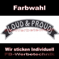 LOUD & PROUD Top Rocker 29cm Patches Aufnäher