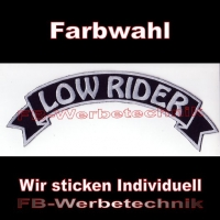 LOW RIDER Top Rocker 29cm Patches Aufnäher S03