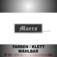 Moers Aufnäher Biker Patches Patch 9x3 S2