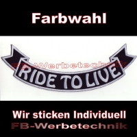 RIDE TO LIVE Bottom Rocker 29cm Patches S03