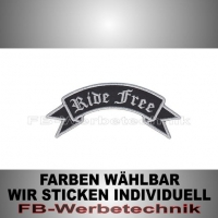 Ride Free Patch Flagge OBEN 12cm Aufnäher S02