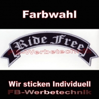 Ride Free Top Rocker 29cm Patches Aufnäher S02