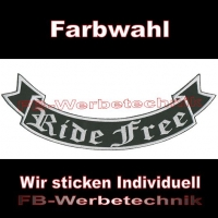 Ride Free Bottom Rocker 29cm Aufnäher Patches S02
