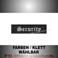 Security Patches Aufnäher Biker MC 10x2,5 S2