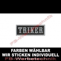 TRIKER Aufnäher Patches 8cm x 3cm Patch