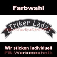Triker Lady Top Rocker 29cm Patches Aufnäher S03