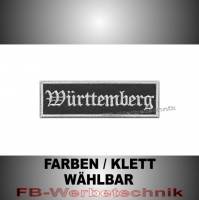 Württemberg Patches Aufnäher Biker Patch 10x3 S2