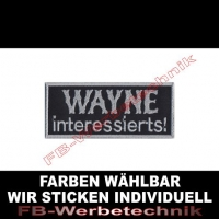 WAYNE interessierts Aufnäher Patches 9,5x4cm