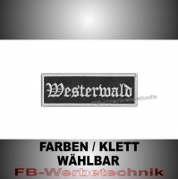 Westerwald Patches Aufnäher Biker Patch 9x3 S2