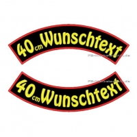 Wunschtext Bögen SET 40 cm Patches S03
