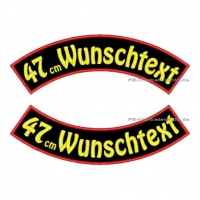 Wunschtext Bögen SET 47 cm Patches S03